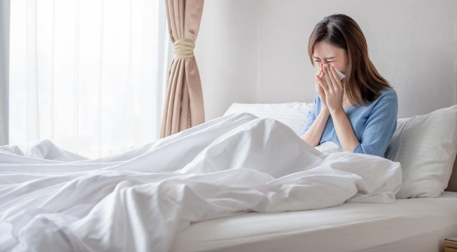 Antibakterielle und -allergische Bettwäsche