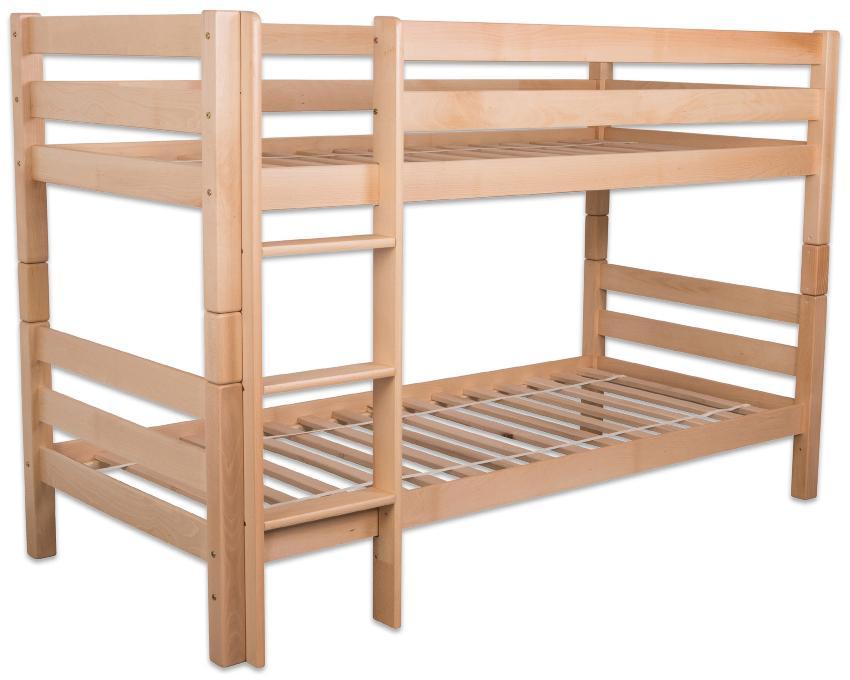 Kinder Etagenbett aus massiverm Buchenholz